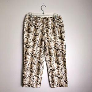 White House Black Market Snake Print Pants